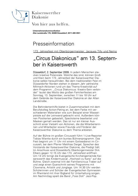 Circus Diakonicus - bei der Kaiserswerther Diakonie