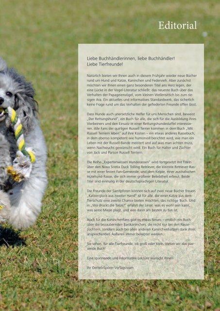Tierbücher Frühjahr 2012 - Oertel & Spörer