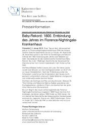 Baby-Rekord - bei der Kaiserswerther Diakonie