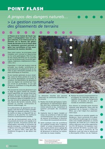 la gestion communale des glissements de - Csd