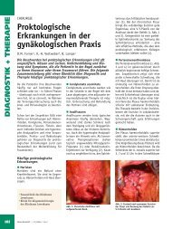 Proktologische Erkrankungen in der gynäkologischen Praxis