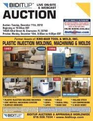 PLASTIC INJECTION MOLDING, MACHINING & MOLDS - BidItUp