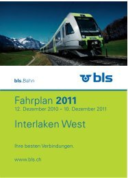 Fahrplan 2011 Interlaken West - BLS AG