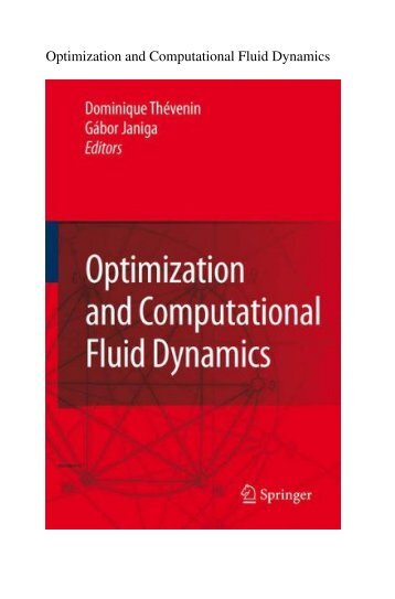 Optimization and Computational Fluid Dynamics - Department of ...