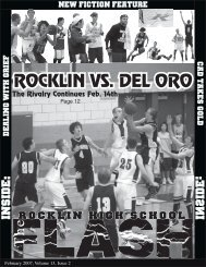 ROCKLIN VS. DEL ORO - My High School Journalism