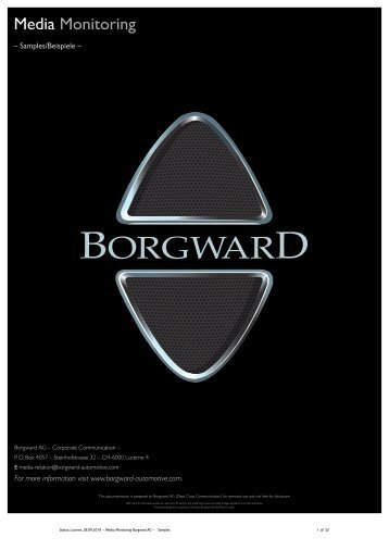 Media Monitoring - Borgward-automotive.com