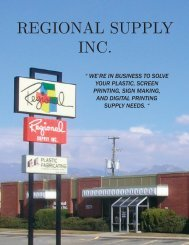 Section 1.1 Table of Contents & Neon Materials - Regional Supply