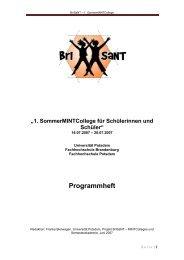 Programmheft - BrISaNT - Universität Potsdam