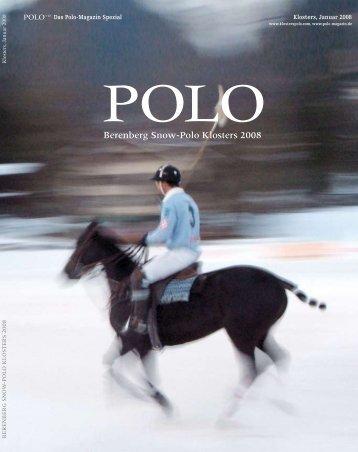 Berenberg Snow-Polo Klosters 2008 - Polo+10 Das Polo-Magazin