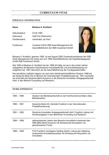 CV Barbara Knoflach - CA Immo