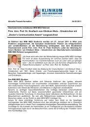 Prim. Univ. Prof. Dr. Knoflach vom Klinikum Wels ... - PR Portal