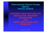 International Atomic Energy Agency Vienna, Austria ACCIDENT ...