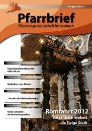 Pfarrbrief - Pfarreiengemeinschaft Bessenbach