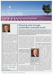 Reducing risks through sustainable corporate bonds - Bank Sarasin ...