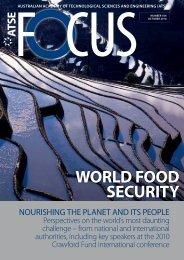 world food security - Australian Academy of Technological Sciences ...