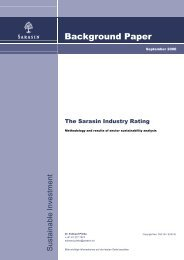 The Sarasin Industry Rating