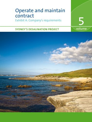 Operate and maintain contract - Sydney Water