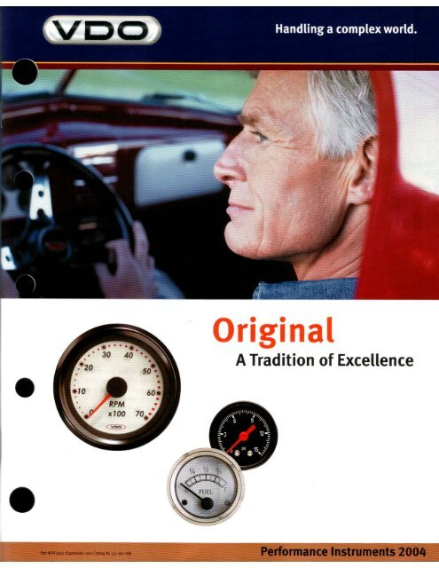 VDO Aftermarket Catalog - NSI Fleet:...Automotive, Marine, and ...