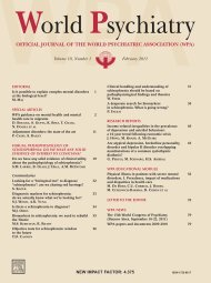 official journal of the world psychiatric association (wpa)