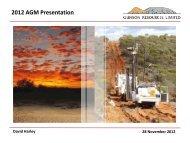 AGM Presentation - Gunson Resources