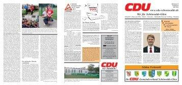 CDU Zeitung Juli 2011 - CDU Gemeindeverband