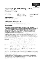 Kupplungskugel mit Halterung ( KmH ) - Westfalia