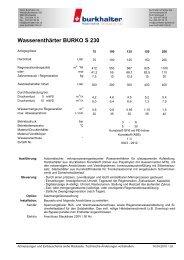 Wasserenthärter BURKO S 230 - Burkhalter AG
