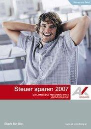 Steuer sparen 2007 - AK - Vorarlberg