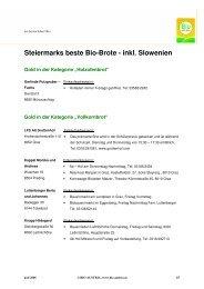 Steiermarks beste Bio-Brote - inkl. Slowenien