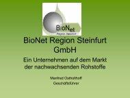 BioNet Region Steinfurt GmbH