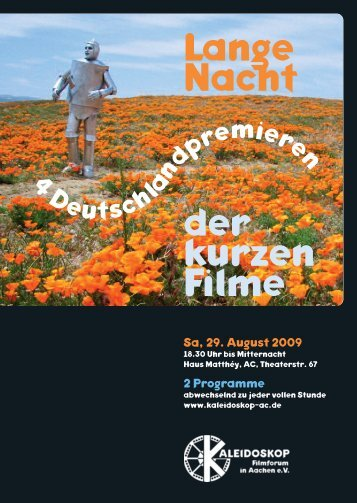 Download des Flyers (PDF) - Kaleidoskop Filmforum in Aachen e.V.