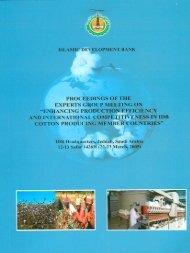 Proceedings of the Expert Group Meeting on - Islamic Development ...