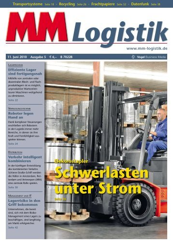 Schwerlasten unter Strom - MM Logistik - Vogel Business Media