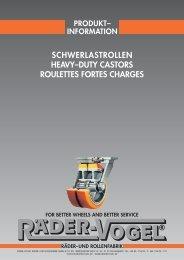 Produkt-Information Schwerlastrollen Februar 2012 - Räder-Vogel