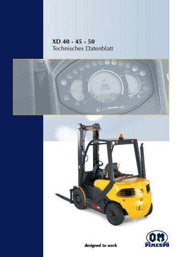 Technisches Datenblatt XD 40 - 45 - 50