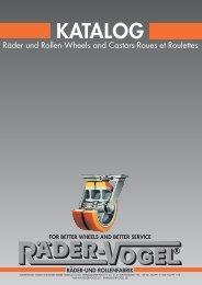 Main catalogue HK2 wheels and castors - September ... - Räder-Vogel