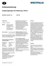 Anbauanweisung Kupplungskugel mit Halterung ( KmH )
