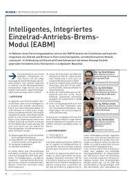 Intelligentes, Integriertes Einzelrad-Antriebs-Brems- Modul (EABM)