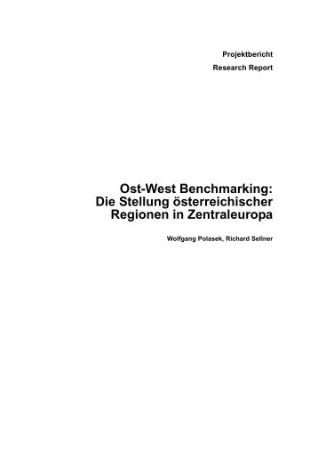 Ost-West Benchmarking - Institute for Advanced Studies