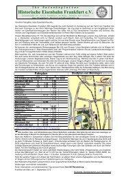 Reisendeninfo DLW - Historische Eisenbahn Frankfurt