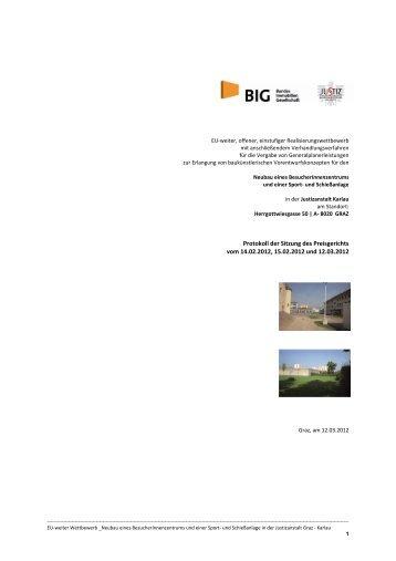 Protokoll der Sitzung des Preisgerichts vom 14.02.2012, 15.02.2012 ...