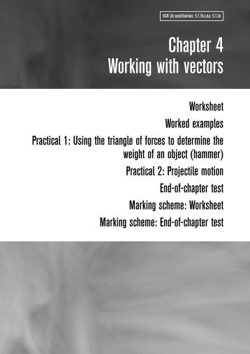 Chapter 4 Working with vectors - plannerLIVE!