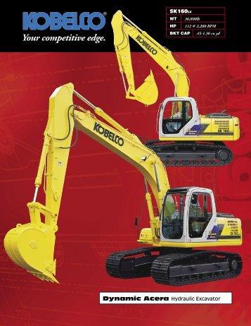 SK160LC Dynamic Acera Hydraulic Excavator - Selco Equipment