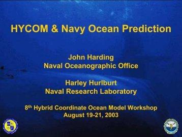 HYCOM & Navy Ocean Prediction