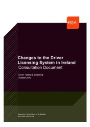 Changes to the licensing system in Ireland - Road Safety Authority