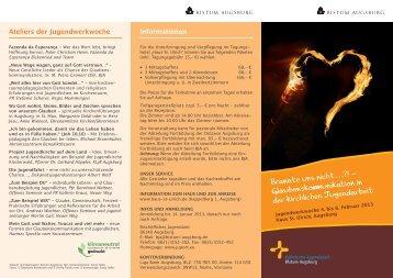 Flyer JWW13 - Bistum Augsburg