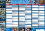 Kalender 2013 mit überörtlichen Veranstaltungen - Büren