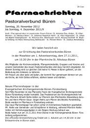 Pfarrnachrichten vom 20.11. - 04.12.2011 - St. Nikolaus Büren