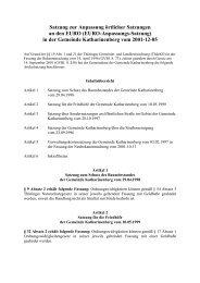 Satzung zur Anpassung örtlicher Satzungen an ... - Katharinenberg
