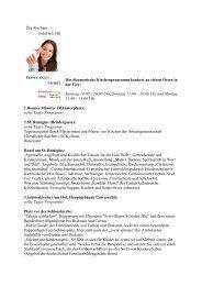 Das ökumenische Kirchenprogramm konkret an sieben ... - Kath Bonn
